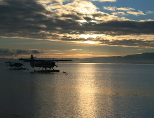 Sea plane in Rotorua, New Zealand