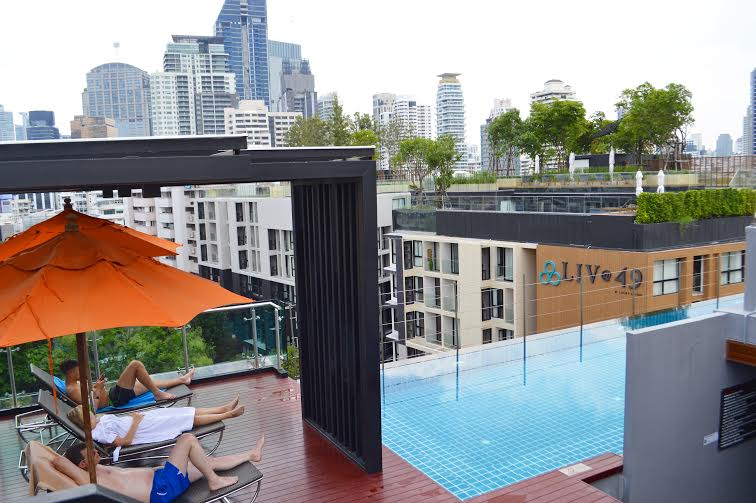 Terrace pool at Adelphi 49, Bangkok