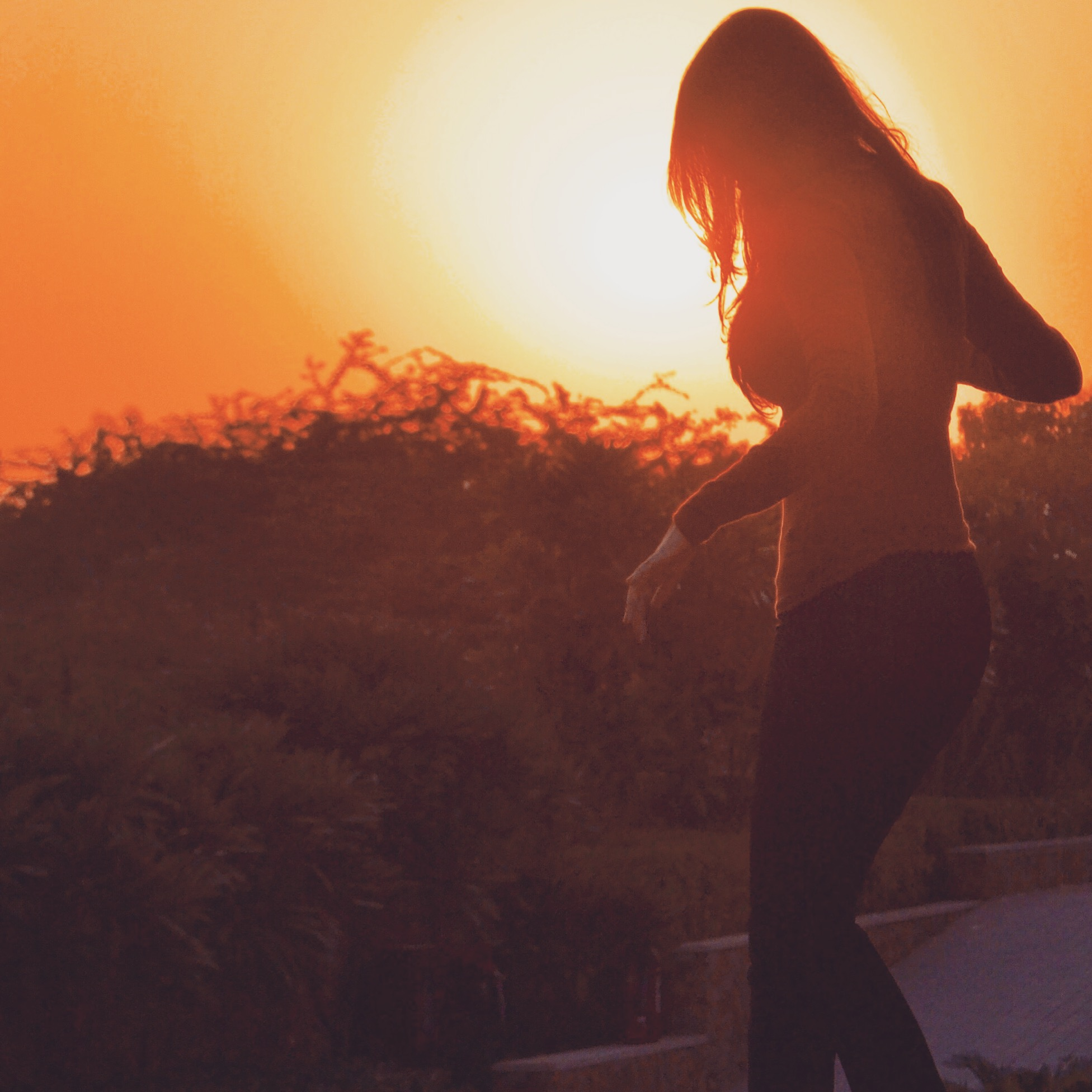Girl Sunset