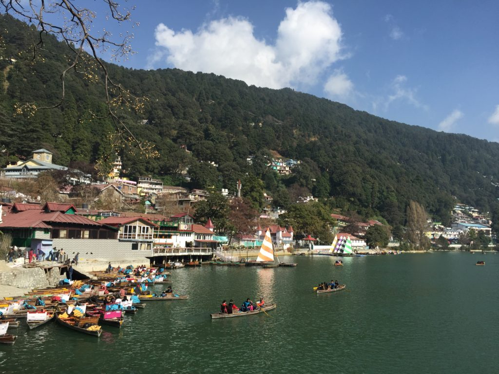 Nainital lake and mall road