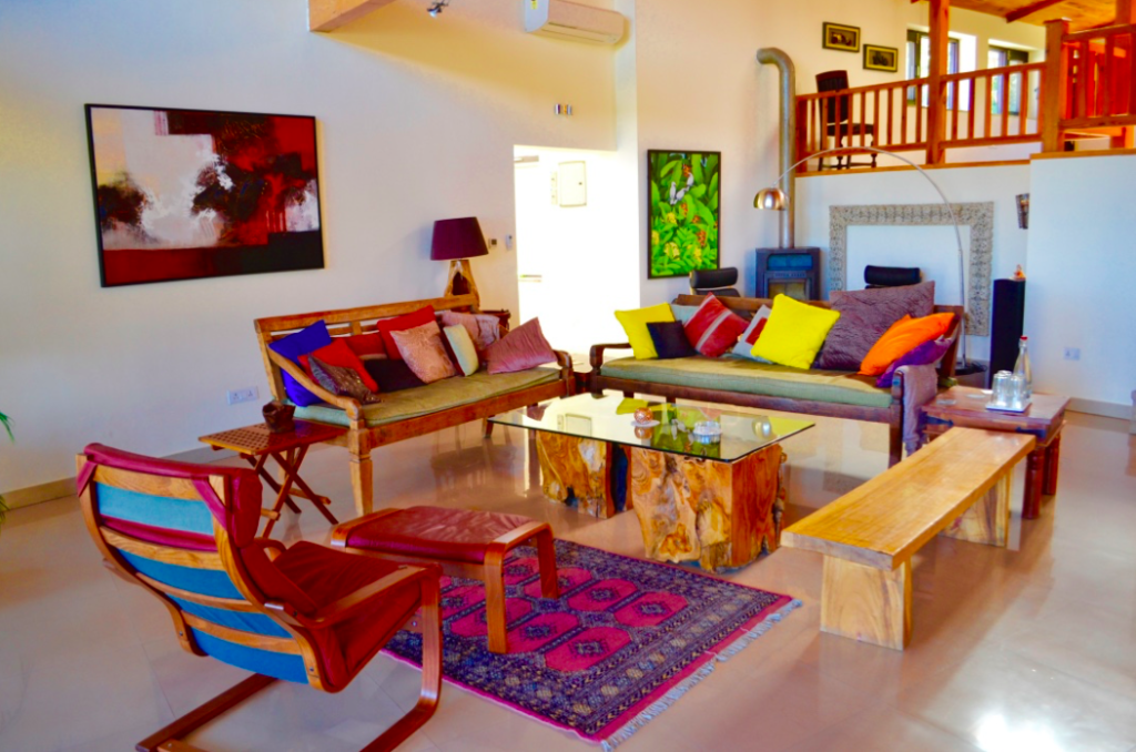 Junoon in the Hills- the living area and loung