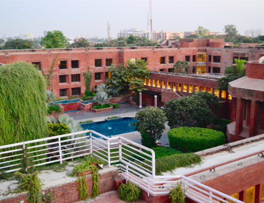 ITC Mughal Agra- view of the pool area from the observatory