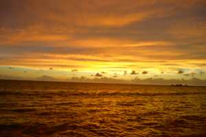 Golden Sunset in Colombo from the Galle Face Hotel