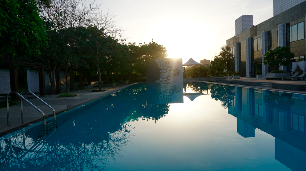 Pool at Karma Chalets, Manesar