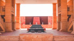 Marriott Jaisalmer Water Fountain Courtyard area
