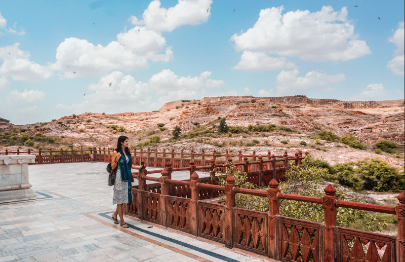 Jodhpur's Jaswant Thada and the view behind the memorial