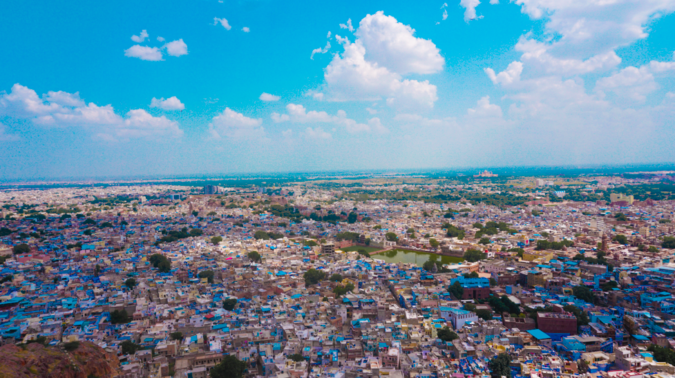 Blue city or the old city of Jodhpur