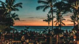 Potato Head Beach Club at sunset
