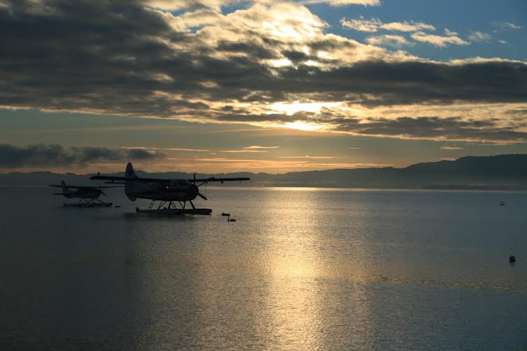 Sea plane in Rotorua, New Zealand